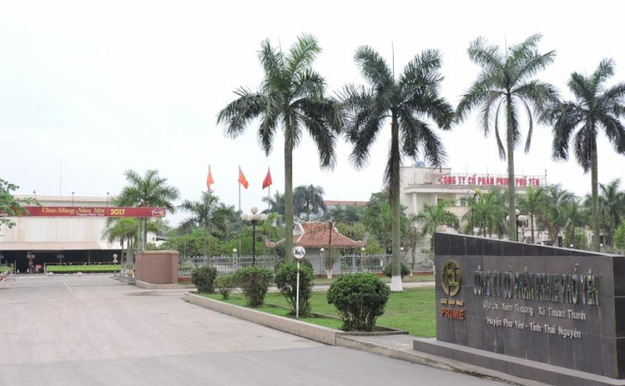 Công ty CP Prime Phổ Yên- một trong những nhà máy sản xuất công suất lớn của Prime