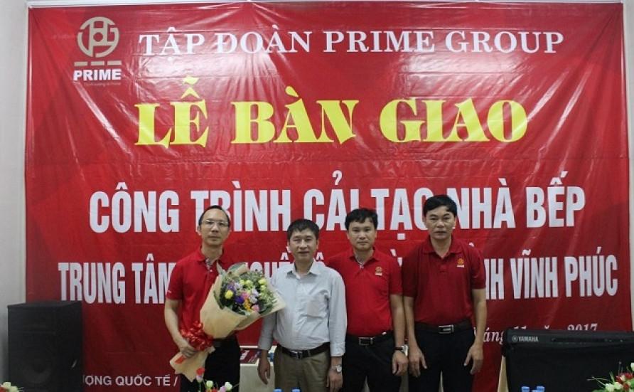 Prime tài trợ Công trình cải tạo nhà bếp Trung tâm dạy nghề Hội người mù tỉnh Vĩnh Phúc