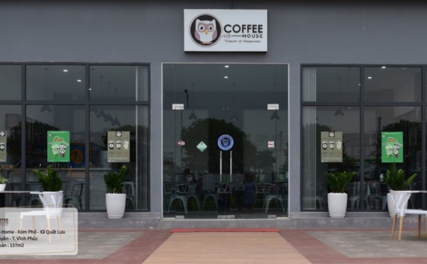 Cu cafe - good example for modern coffee house