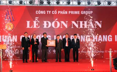 Prime Group đón nhận Huân chương Lao động hạng Nhì