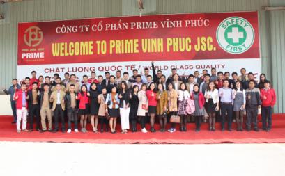 Prime chào mừng khách hàng tới tham quan nhà máy tại Vĩnh Phúc