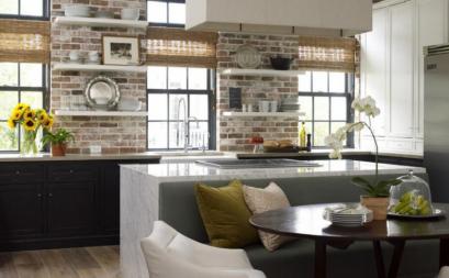 Điểm nhấn cho tường bếp cùng họa tiết mosaic