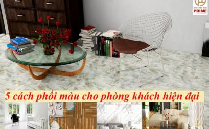 5 cách phối màu tinh tế cho phòng khách hiện đại