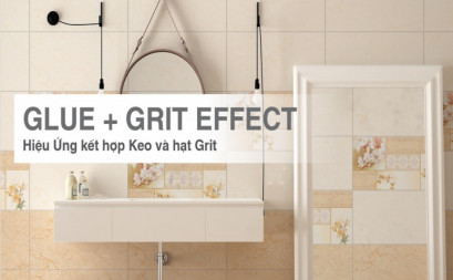 Beautiful look on tiles with Glue & Grit Effect