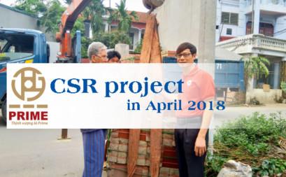 CSR project in April 2018 - Donate floor tiles for poor people in Vinh Yen, Vinh Phuc