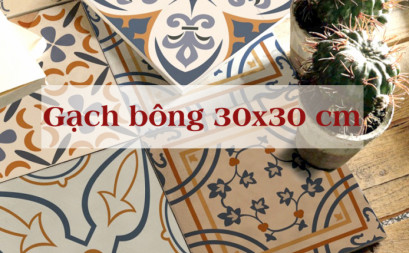 Flowered pattern tiles