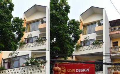 Nice house at the narrow street