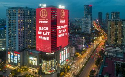 Led building - Prime Group chung tay đẩy lùi Covid 19